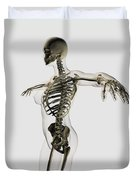 Three Dimensional View Of Female Duvet Cover