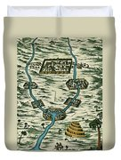 Tigris And Euphrates, Babylonia Duvet Cover