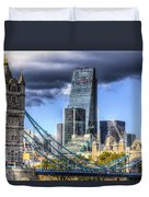 Tower Bridge And The City Duvet Cover