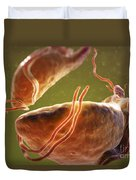 Trichomonas Vaginalis Duvet Cover