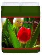 3 Tulips For Mother's Day Duvet Cover