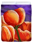 3 Tulips Red Purple Duvet Cover