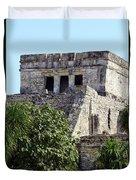 Tulum Ruins Mexico Duvet Cover