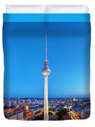 Tv Tower Or Fersehturm In Berlin Duvet Cover