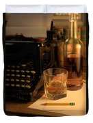 Typewriter And Whiskey Duvet Cover