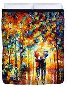 Under One Umbrella Duvet Cover by Leonid Afremov