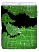 Vancouver Street Map - Vancouver Canada Road Map Art On Colored  Duvet Cover