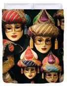 Venetian Masks Duvet Cover