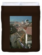 View Of Kotor Town In Montenegro Duvet Cover