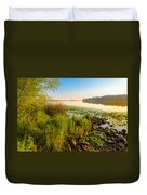 View Of The Dniper River At Morning Duvet Cover