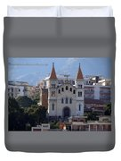 Views Of Messina Italy Duvet Cover