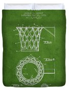 Vintage Basketball Goal Patent From 1951 Duvet Cover