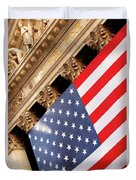 Wall Street Flag Duvet Cover
