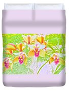 Laughing Watercolor Photography Duvet Cover