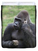 Western Lowland Gorilla Duvet Cover