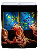 3 Wet Pink Panthers Duvet Cover