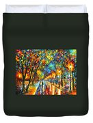 When Dreams Come True Duvet Cover by Leonid Afremov