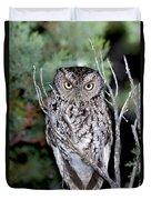 Whiskered Screech Owl Duvet Cover