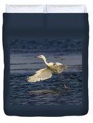 White Morph Redish Egret Duvet Cover