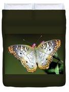 White Peacock Butterfly Duvet Cover