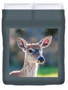 White Tail Deer Bambi In The Wild Duvet Cover