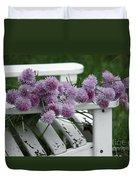 Wild Onion Flowers Duvet Cover