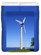 Wind Powered Electric Turbine Duvet Cover