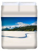 Winter In The Mountains Duvet Cover