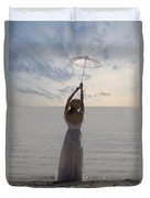Woman At The Beach Duvet Cover