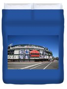 Wrigley Field - Chicago Cubs Duvet Cover by Frank Romeo
