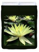 3 Yellow Lotus Duvet Cover