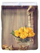 Yellow Roses Duvet Cover