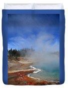 Yellowstone Park Geyser Duvet Cover