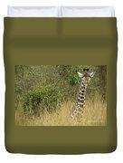 Young Giraffe In Kenya Duvet Cover
