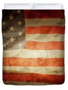 American Flag Rippled Duvet Cover