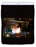 30 Rock Fountain Duvet Cover