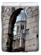Views Of Split Croatia Duvet Cover