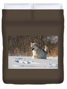 Wolf In Winter Duvet Cover
