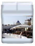 Views Of Santorini Greece Duvet Cover