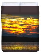 333 Marine Sunrise Duvet Cover