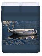 Lyme Regis Harbour Duvet Cover