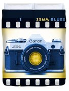 35mm Blues Canon Ae-1 Duvet Cover