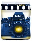 35mm Blues Nikon F-3hp Duvet Cover