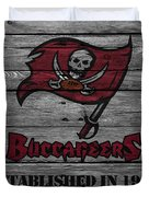 Tampa Bay Buccaneers Duvet Cover by Joe Hamilton