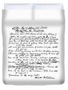 Walt Whitman (1819-1892) Duvet Cover
