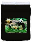 3722-panda -  Colored Photo 1 Duvet Cover