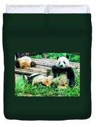 3722-panda -  Oil Stain Sl Duvet Cover