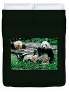 3722-panda -  Pastel Chalk 1 Duvet Cover