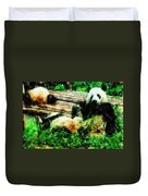 3722-panda -  Pastel Pencils Duvet Cover