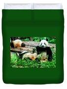 3722-panda -  Watercolor 1 Duvet Cover